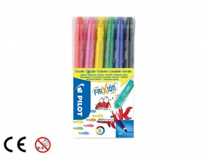 Pilot FriXion Colors Flamastry 6 sztuk Medium