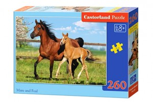 Castorland Puzzle 260 elementów Mare and Foal Konie