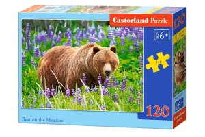 Castorland Puzzle 120 elementów Bear On The Meadow