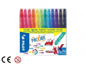 Pilot FriXion Colors Flamastry 12 sztuk Medium
